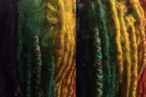 Dreadlocks maintenance on coloured hair